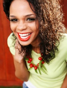 Smiling Woman with Gum Graft - The Fort Collins Dentist