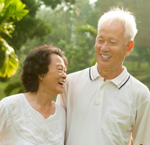 Happy Couple with Dentures - The Fort Collins Dentist