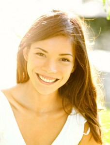 Woman Smiling with Dental Crowns - The Fort Collins Dentist